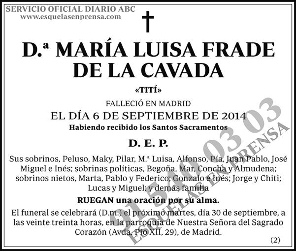 María Luisa Frade de la Cavada